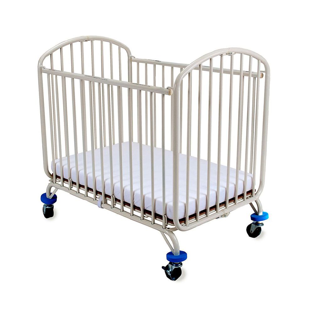 LA Baby Folding Arched Portable Crib in White, , large
