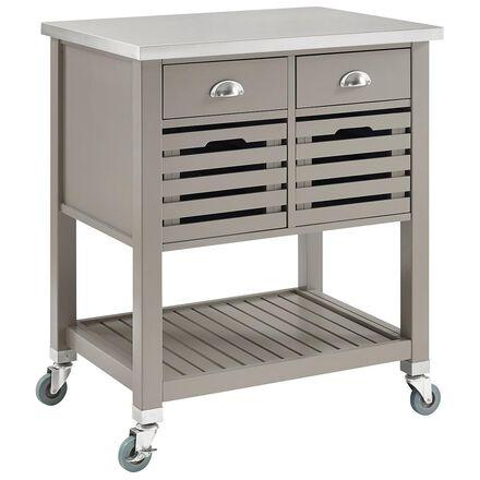 tan kitchen cart