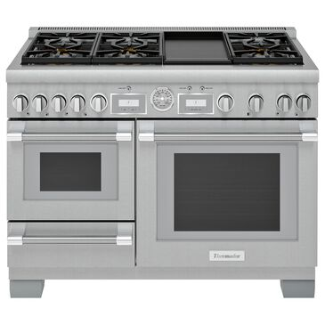 """Thermador 48"""" Pro Grand Dual Fuel Steam Range with 6 Burners in Stainless Steel, , large"""