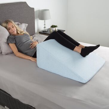 Timberlake Lavish Home High Wedge Memory Foam Pillow in Blue, , large