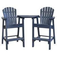 Oceanside Adirondack Shellback Chairs with Tete-a-Tete in Slate
