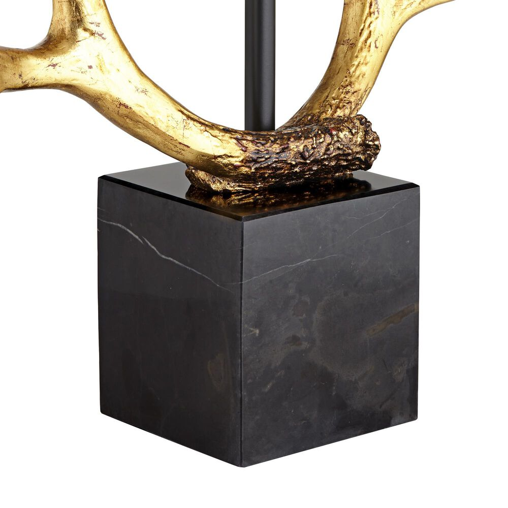 Pacific Coast Lighting Golden Antlers Table Lamp in Antique Gold, , large