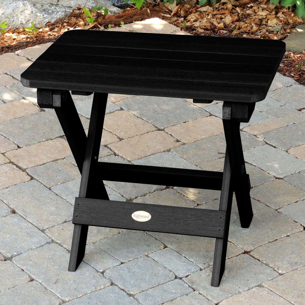 Highwood USA Classic Westport 3-Piece Adirondack Chair Set in Black, , large