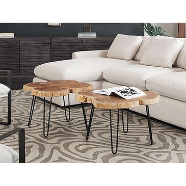 37B Joss Acacia Live Edge Square Coffee Table in Natural and Black, , large