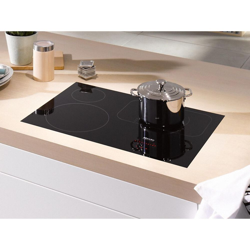 """Miele 30"""" Induction Cooktop in Black and Stainless Steel, , large"""