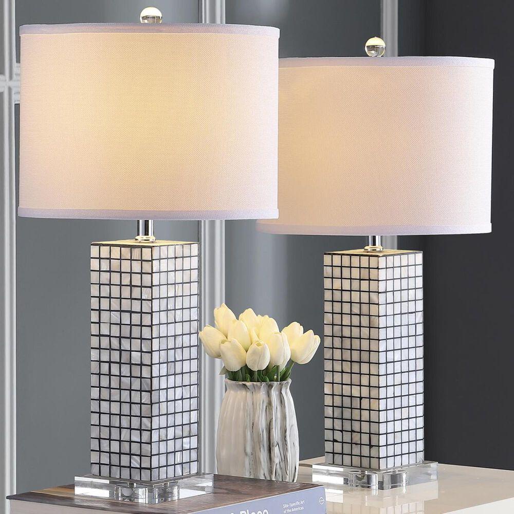 "Safavieh Skagway 25.5"" Table Lamp in Black/Cream (Set of 2), , large"