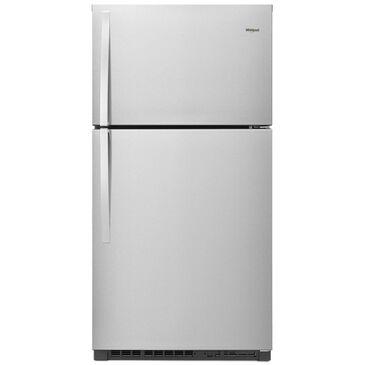 "Whirlpool 21 Cu. Ft. 33"" Wide Top Freezer Refrigerator in Fingerprint Resistant Stainless Steel , , large"