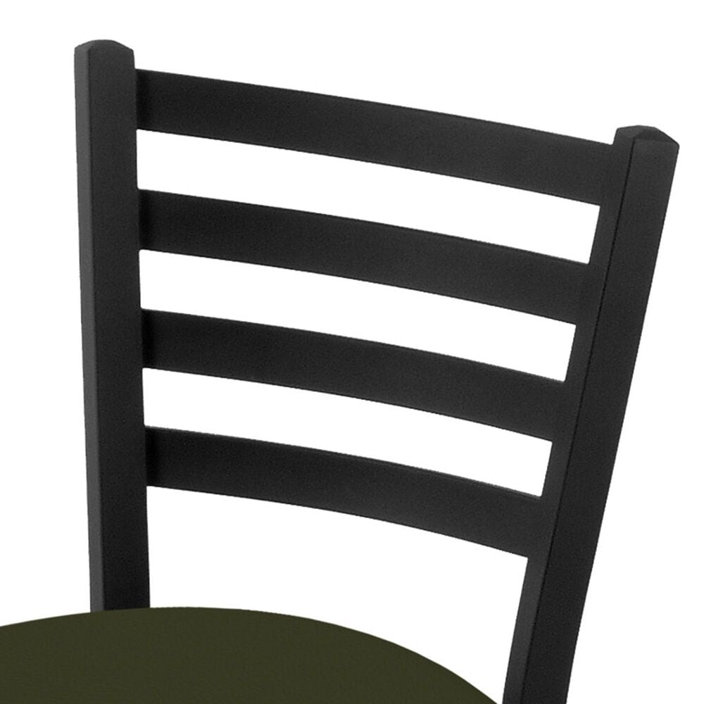 """Holland Bar Stool 400 25"""" Stationary Counter Stool with Black Wrinkle and Canter Pine Seat, , large"""