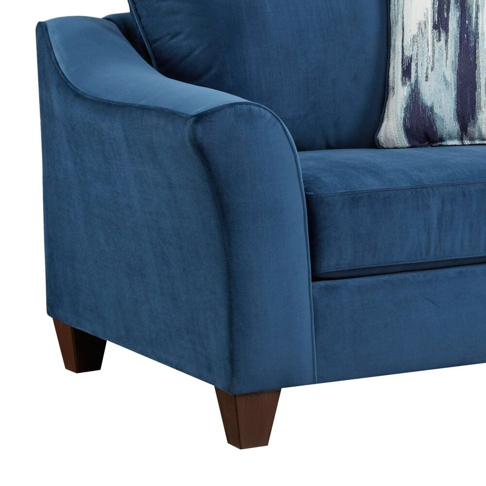 Arapahoe Home Chair and a Half in Velour Navy, , large