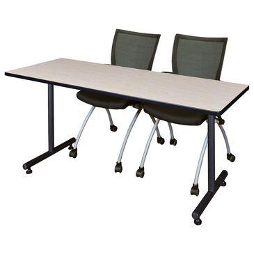 Regency Global Sourcing Kobe 3-Piece Training Table Set in Maple/Black, , large