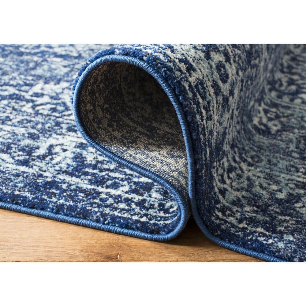 Safavieh Evoke EVK256A 10' x 14' Navy and Ivory Area Rug, , large