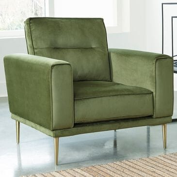 37B Macleary Chair in Moss Velvet , , large
