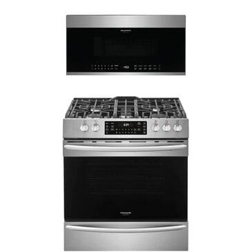 """Frigidaire Gallery 2-Piece Kitchen Package with 30"""""""" Front Control Gas Range in Stainless Steel, , large"""