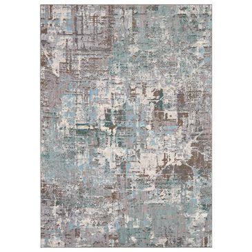 "Karastan Enigma Igneous 91686-60138 8"" x 11"" Jade Area Rug, , large"