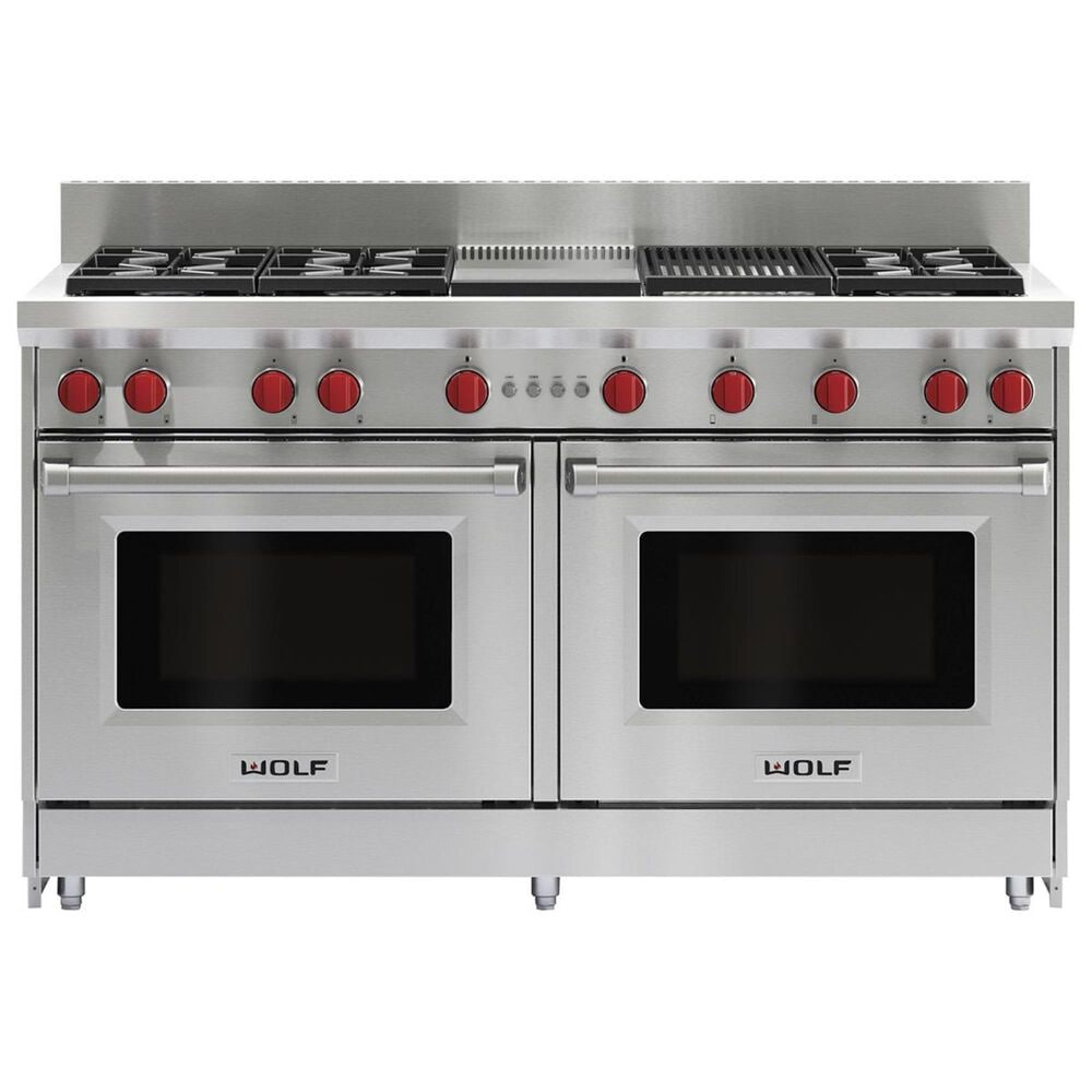 """Wolf 60"""" Professional Gas Range Double Oven, , large"""