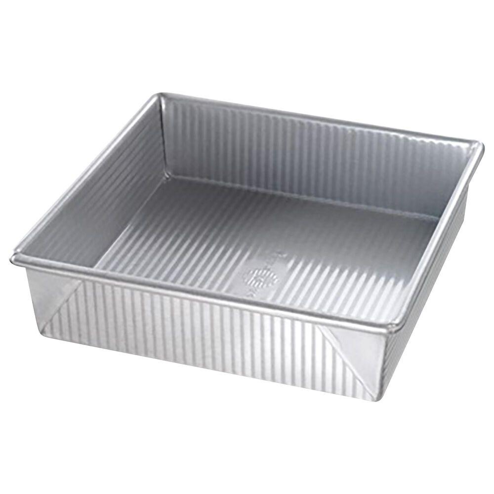 """USA PAN 8"""" Square Cake Pan in Gray, , large"""