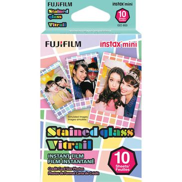 Fujifilm Instax Mini Stained Glass Instant Film (10 Sheets), , large