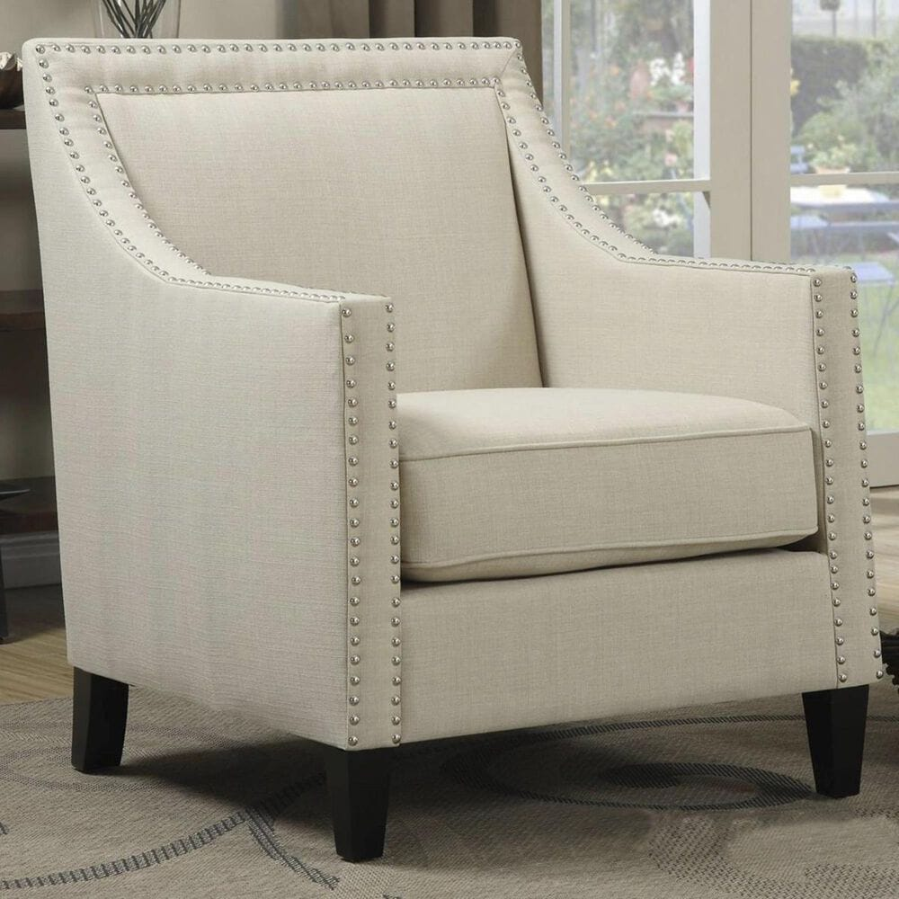 Mayberry Hill Erica Accent Chair with Walnut Leg in Heirloom Natural, , large