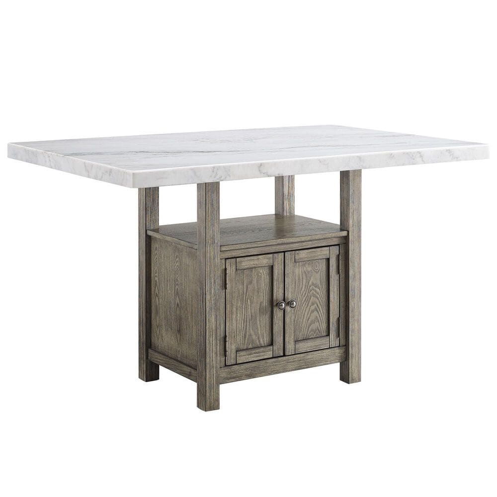 Crystal City Grayson 6-Piece Counter Height Dining Set in Driftwood, , large