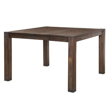 Frankfurt Furniture Rustic Counter Table in Brown Wire Brush - Table Only, , large