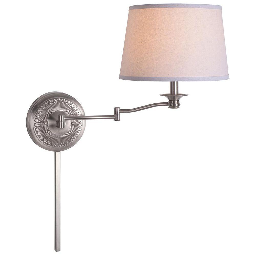 Kenroy Riverside Swing Arm Lamp in Brushed Steel, , large