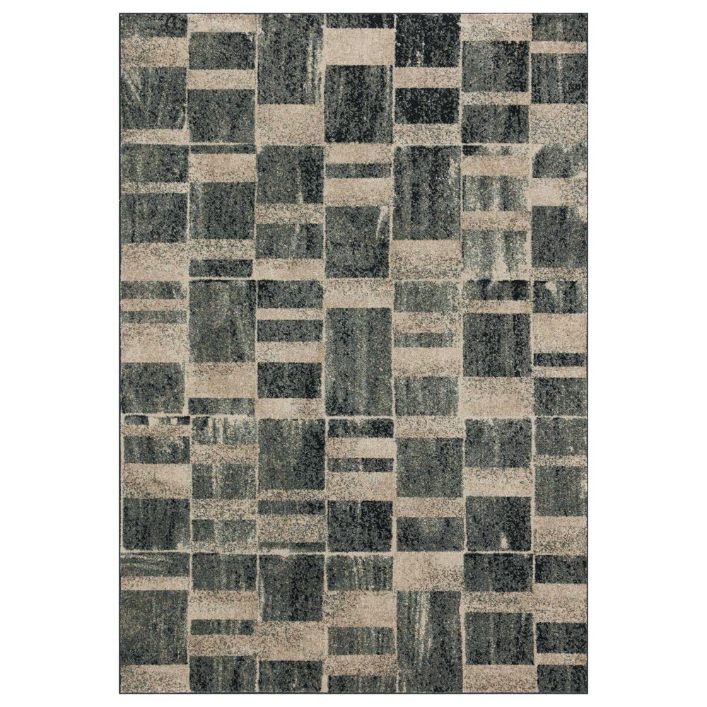 Loloi II Bowery 4' x 6' Storm and Sand Area Rug, , large