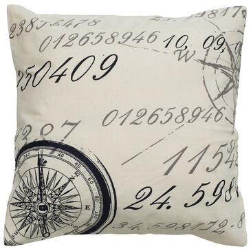 "Rizzy Home 20"" x 20"" Down Pillow in White with Black, , large"