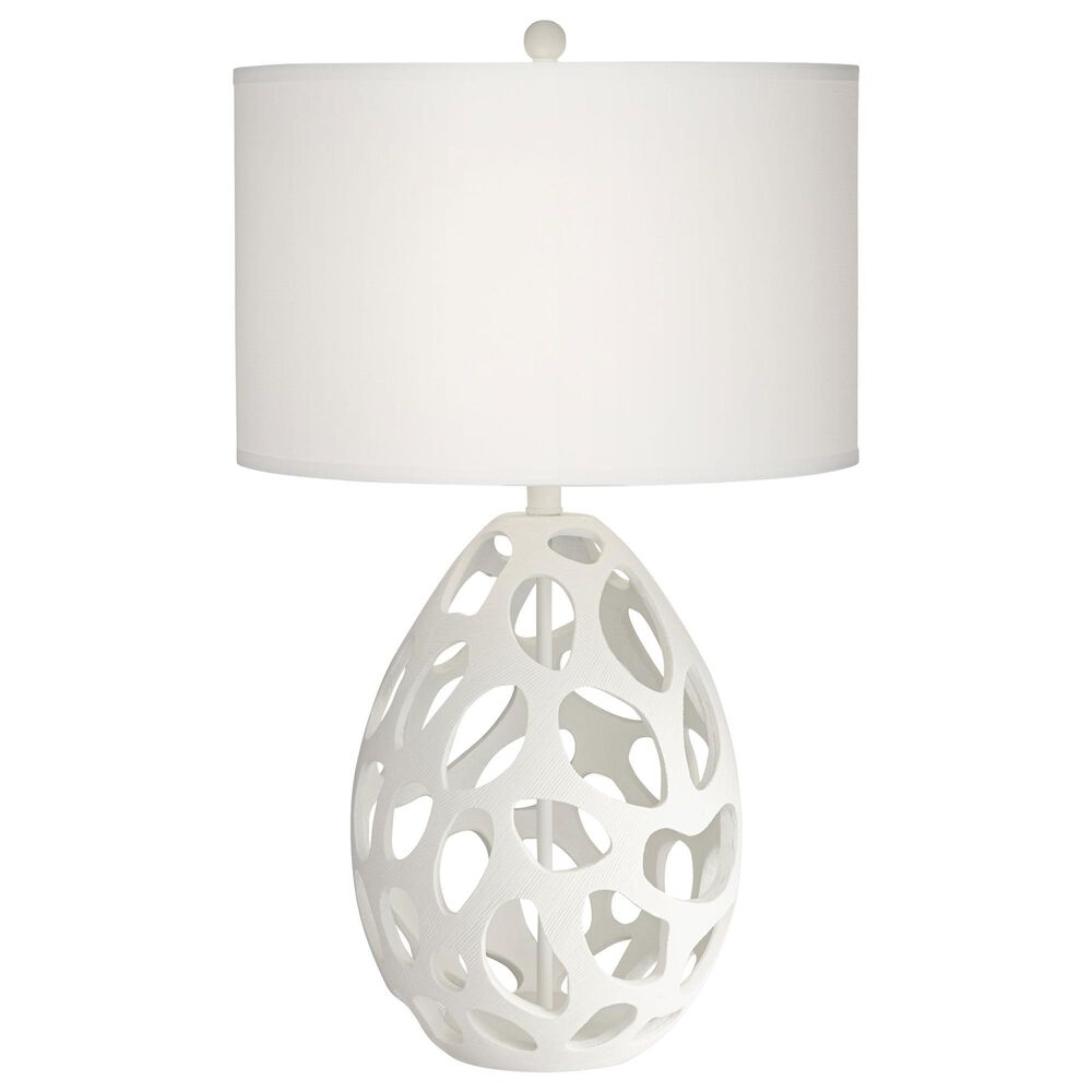 Pacific Coast Lighting Luna Table Lamp in White, , large