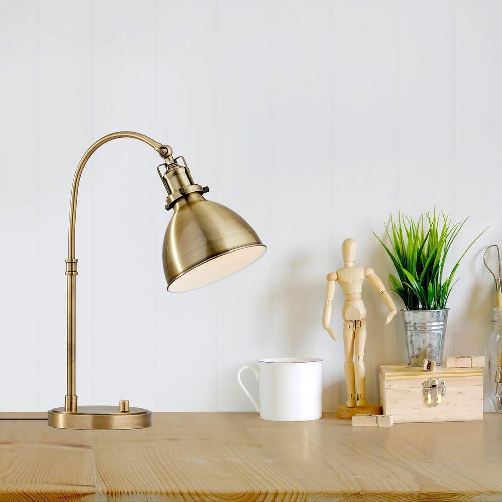 Adesso Abbott Desk Lamp in Antique Brass, , large