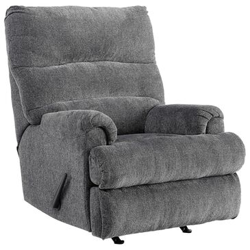 Signature Design by Ashley Man Fort Manual Rocker Recliner in Graphite, , large