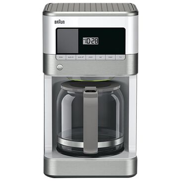 Braun Brewsense 12 Cup Coffee Maker in White and Stainless Steel, , large