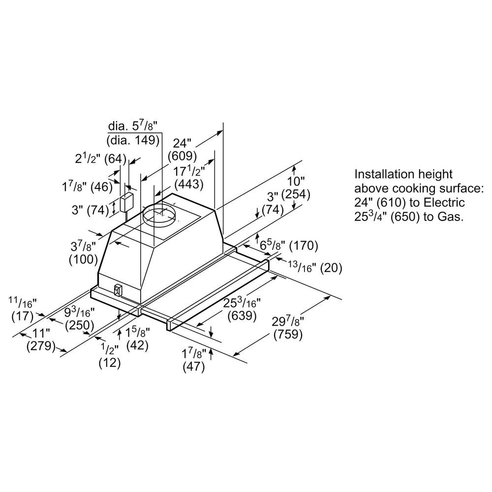 "Bosch 30"" Under Cabinet Range Hood in Stainless Steel, , large"