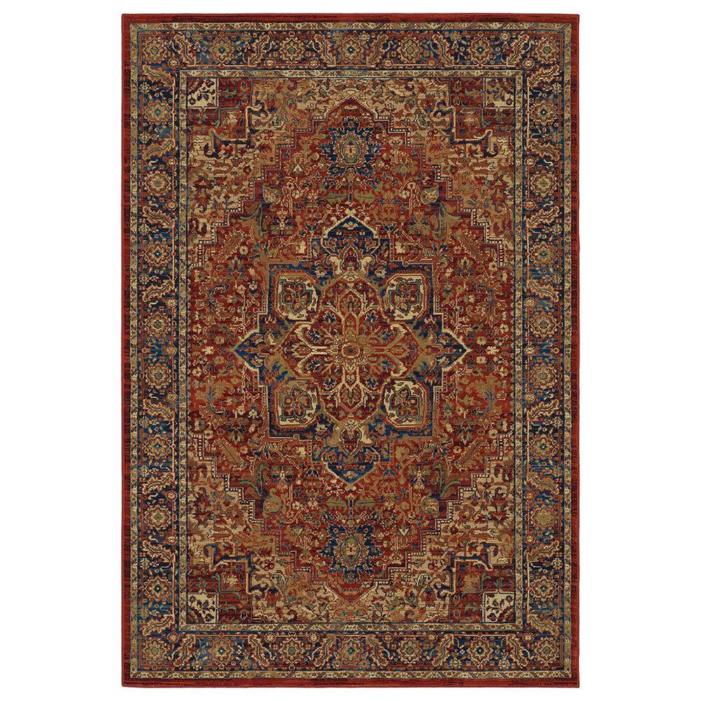 "Oriental Weavers Ankara Medallion 604R5 9""10"" x 12""10"" Red Area Rug, , large"