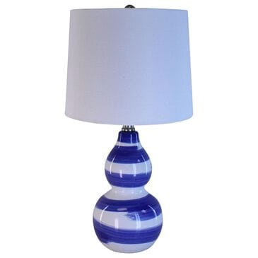TLC Accent Lamp in White and Blue, , large