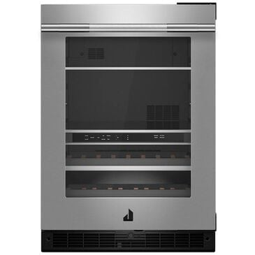 """Jenn-Air RISE 24"""" Built-In Undercounter Beverage Center Right Swing Stainless Steel , , large"""