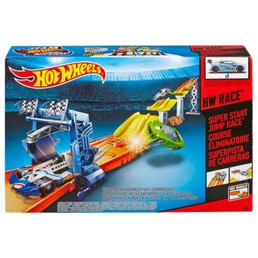 Hot Wheels Super Start Jump Race Track Set, , large