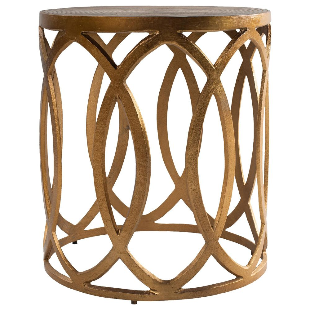 Surya Inc Earnshaw End Table in Brass, , large