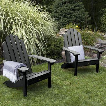 Highwood USA Classic Westport Adirondack Chair in Black (Set of 2), , large