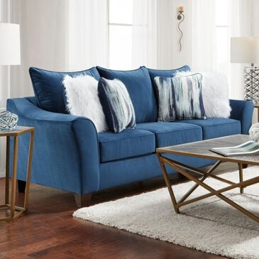 Arapahoe Home Sofa in Velour Navy, , large