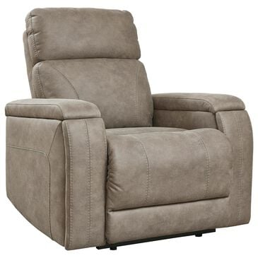 Signature Design by Ashley Rowlett Power Recliner with Headrest and Lumbar in Fog, , large