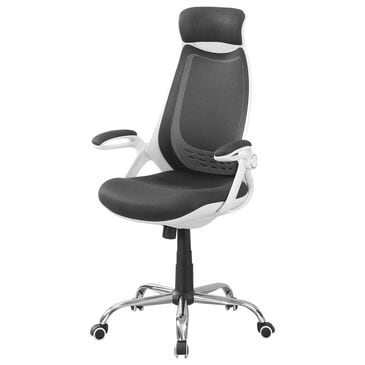 Monarch Specialties Executive Office Chair in White, , large