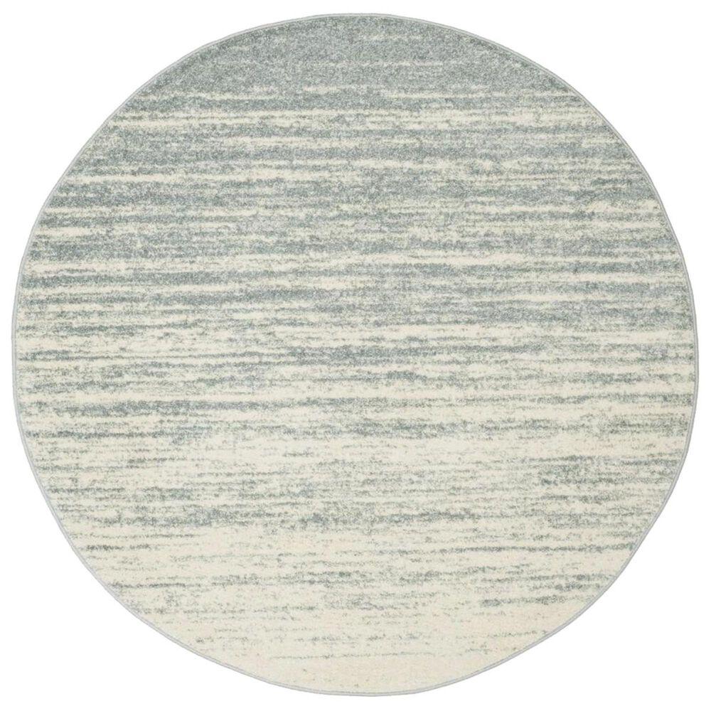 Safavieh Adirondack ADR113T 4' Round Slate and Cream Area Rug, , large