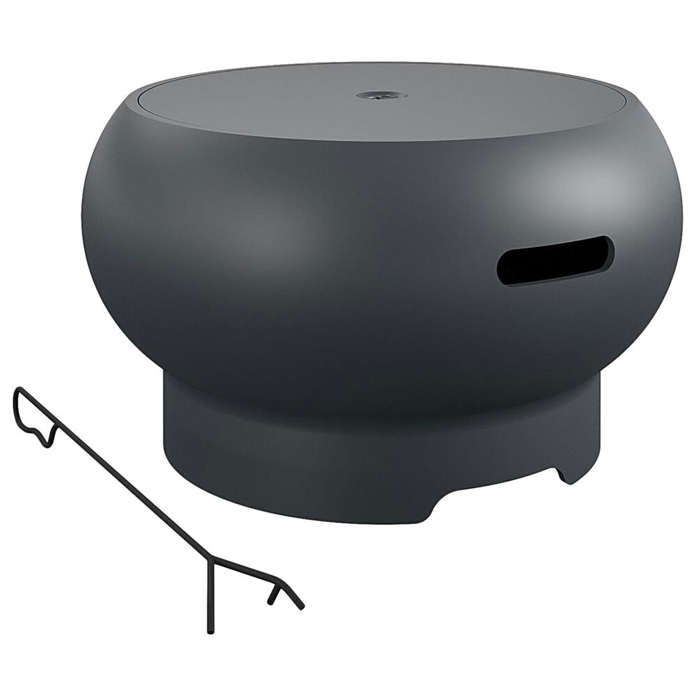 """DHP Poolside 27"""" Fire Pit in Dark Gray, , large"""