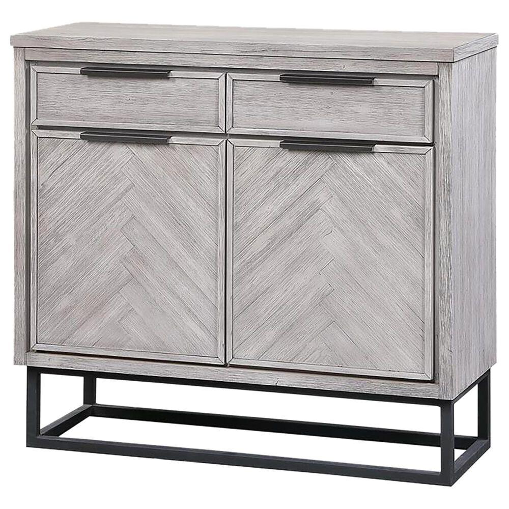Shell Island Furniture Small Cabinet in Herringbone White Rub, , large