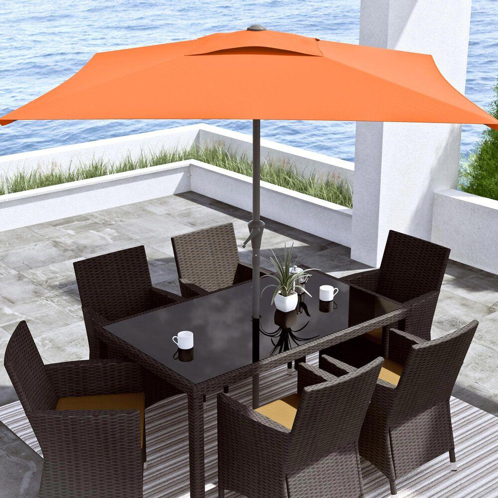 CorLiving 9' Square Tilting Patio Umbrella in Orange, , large
