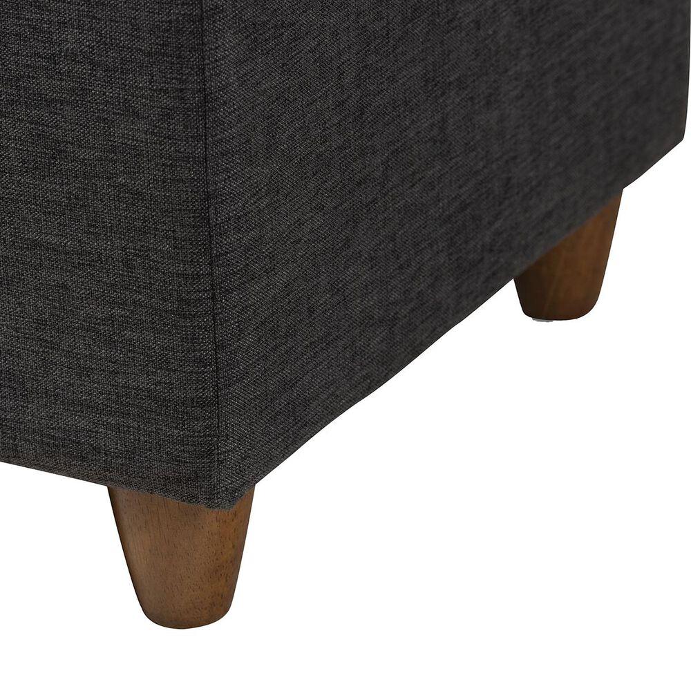 Baxton Studio Marlisa Storage Ottoman Bench in Dark Grey, , large