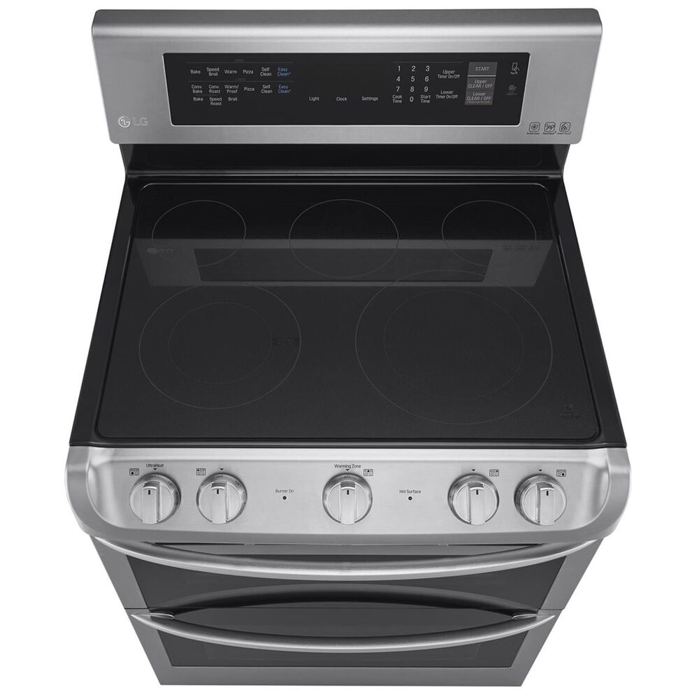 LG 7.3 Cu. Ft. Freestanding Electric Double Oven Range with Ceramic Top in Stainless Steel , , large