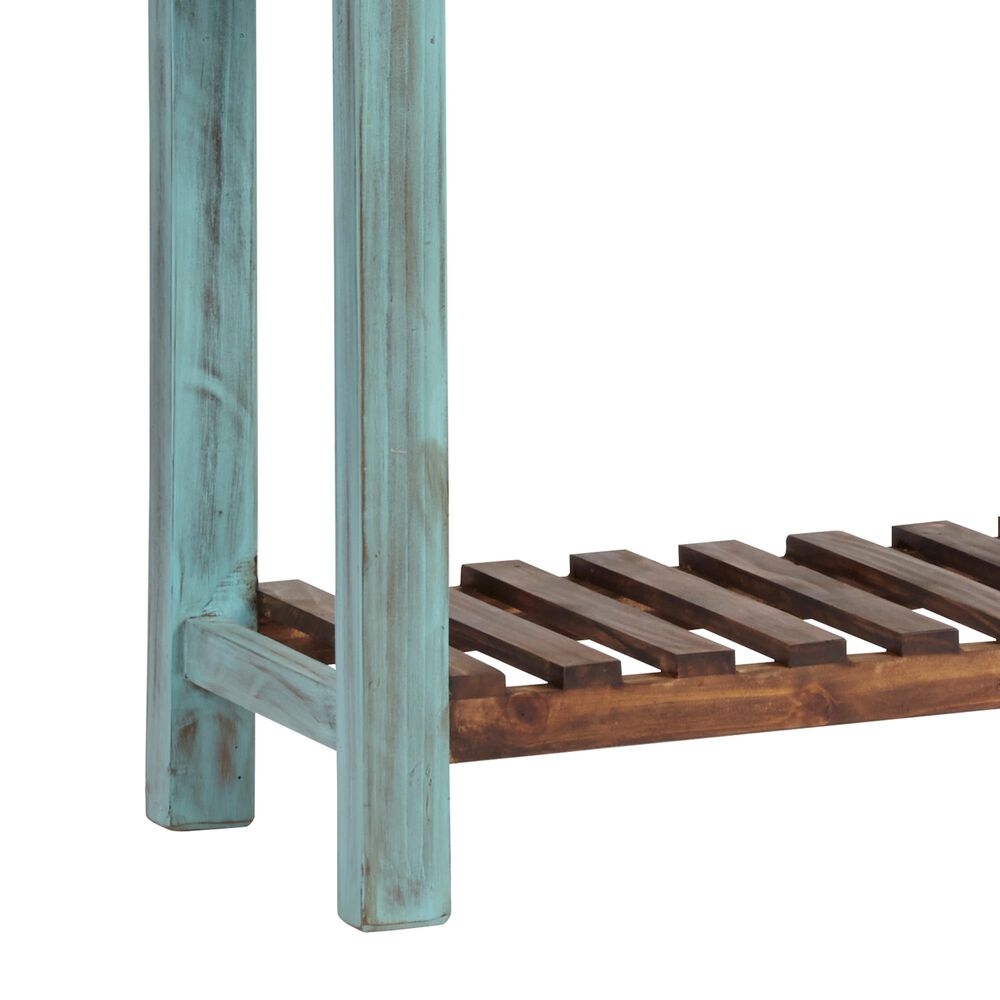 Tiddal Home Holland Console in Distressed Turquoise and Pine, , large