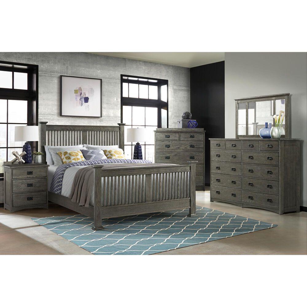 Hawthorne Furniture Oak Park 6 Drawer Chest in Pewter, , large