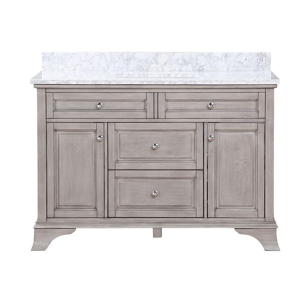 """Aurafina Wainwright 48"""" Vanity with Top and Sink in Old Harbor Gray, , large"""